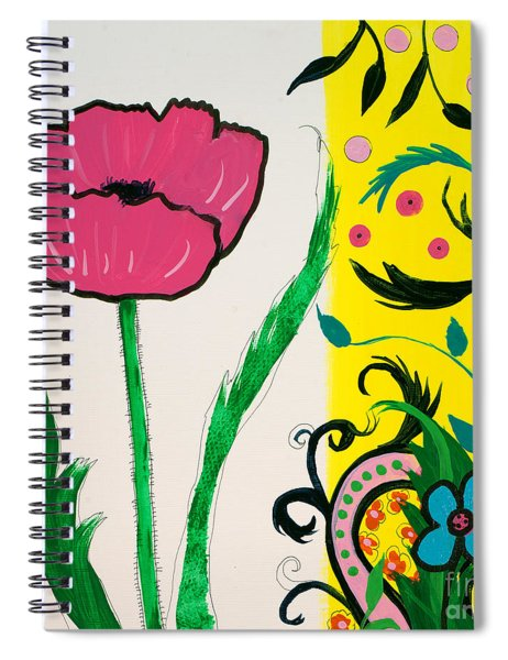 Pink Poppy And Designs Spiral Notebook