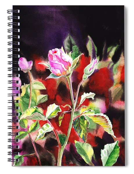 Pink Rose Bloom Spiral Notebook