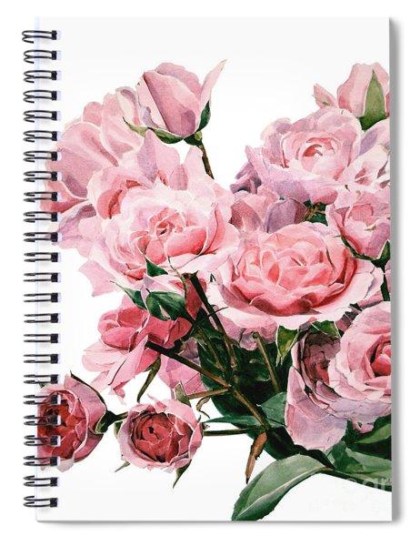 Pink Rose Bouquet Spiral Notebook
