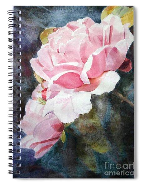 Pink Rose Caroline Spiral Notebook