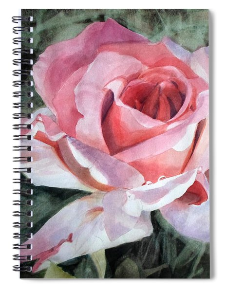 Pink Rose Greg Spiral Notebook