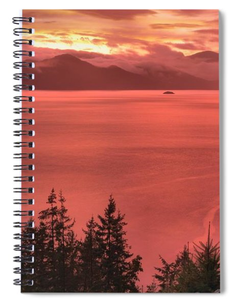 Pink Skies Over The Howe Sound Spiral Notebook