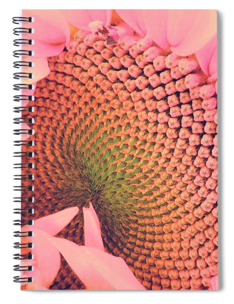 Pink Sunflower Spiral Notebook