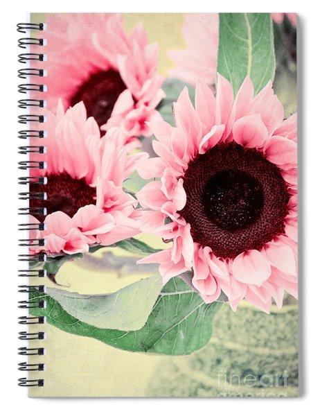 Pink Sunflowers Spiral Notebook