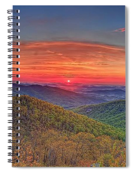 Pink Sunrise At Skyline Drive Spiral Notebook