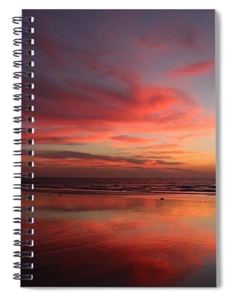Ocean Sunset Reflected  Spiral Notebook