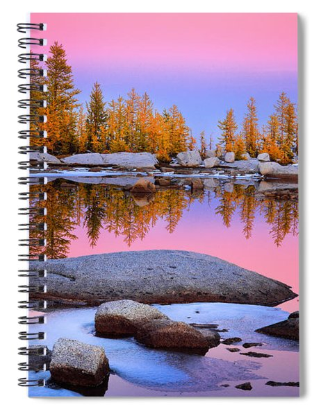 Pink Tarn - October Spiral Notebook