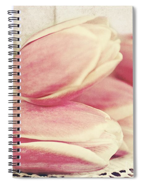Pink Tulips Spiral Notebook