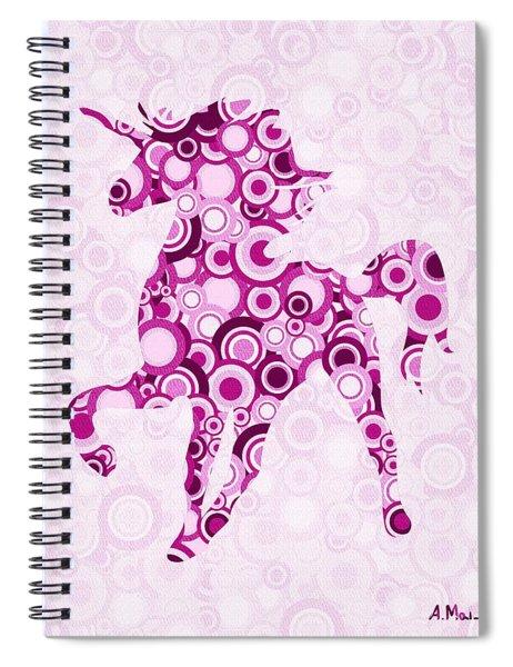 Pink Unicorn - Animal Art Spiral Notebook