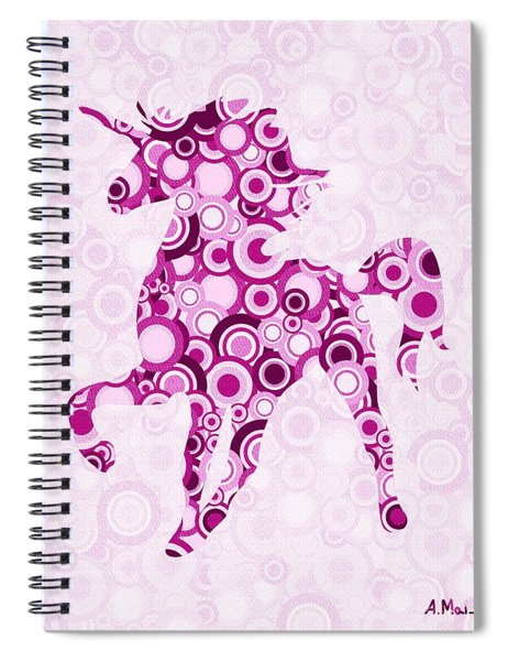 Pink Unicorn - Animal Art Spiral Notebook