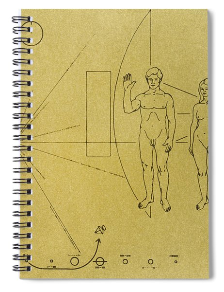 Pioneer Plaque, 1972 Spiral Notebook