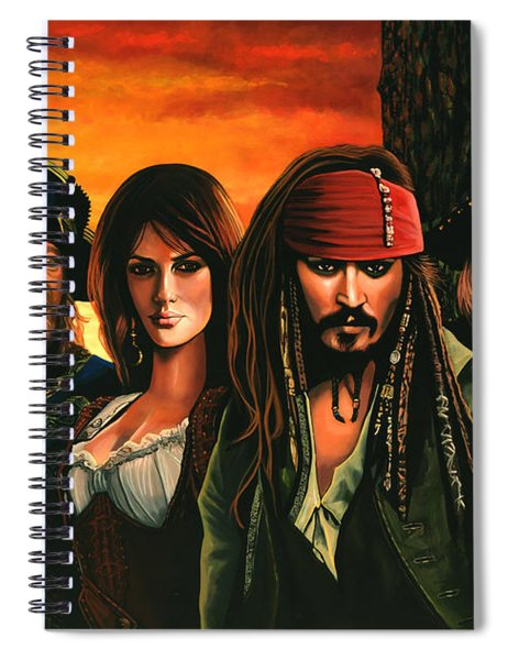 Pirates Of The Caribbean  Spiral Notebook