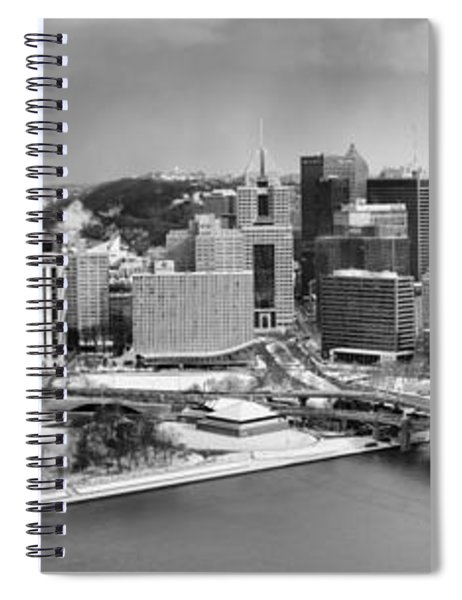 Pittsburgh Black And White Winter Panorama Spiral Notebook