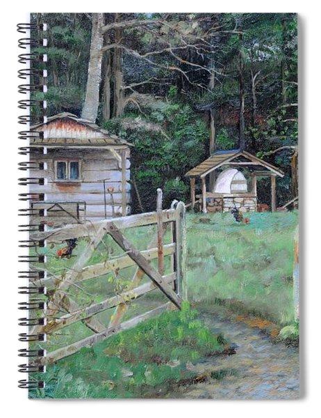 Pizza Hut, Beeley, Derbyshire, 2004 Oil On Canvas Spiral Notebook