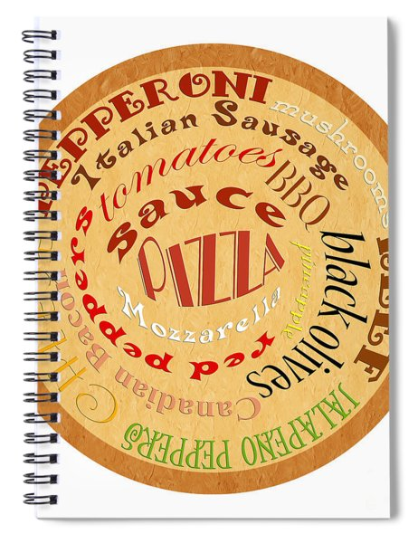 Pizza Typography 2 Spiral Notebook