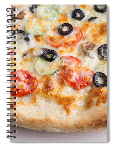 Pizza With Cheese And Vegetables Spiral Notebook