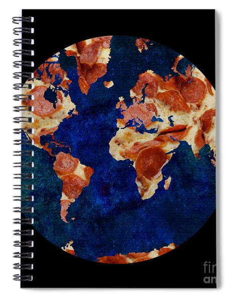 Pizza World Spiral Notebook
