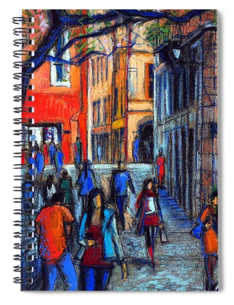 Place Du Petit College In Lyon Spiral Notebook