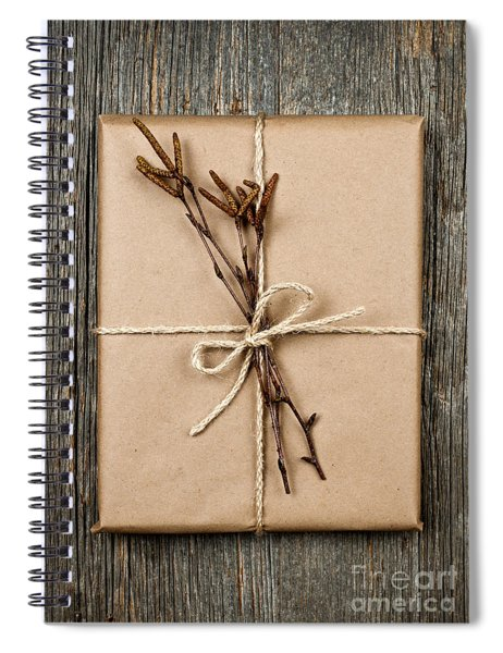 Plain Gift With Natural Decorations Spiral Notebook