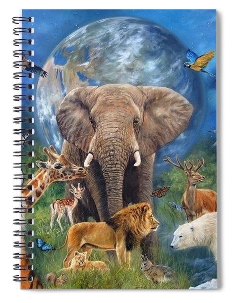 Planet Earth Spiral Notebook