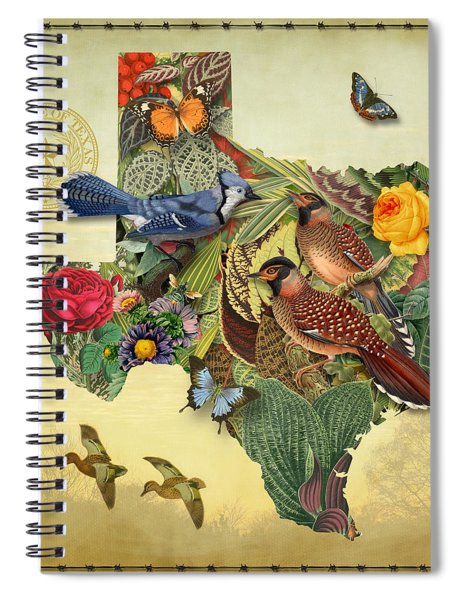 Nature Map Of Texas Spiral Notebook