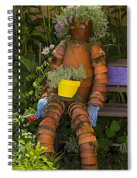 Planter Pot Man Spiral Notebook