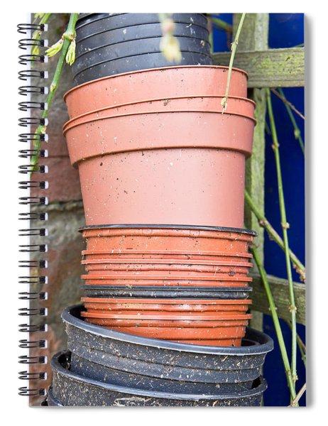 Plastic Plant Pots Spiral Notebook