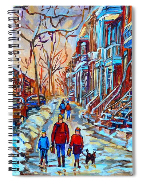 Plateau Montreal Street Scene Spiral Notebook