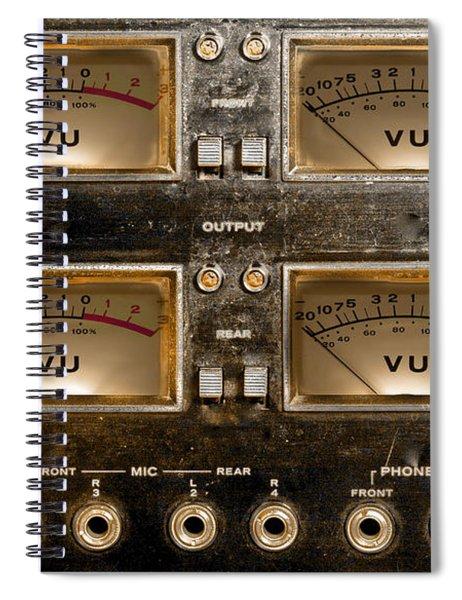 Playback Recording Vu Meters Grunge Spiral Notebook