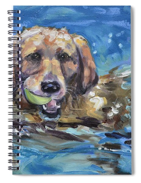 Playful Retriever Spiral Notebook