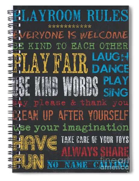 Playroom Rules Spiral Notebook