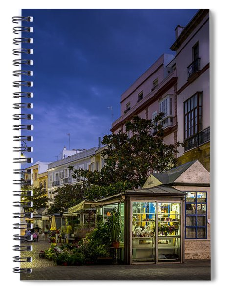 Plaza De Las Flores Cadiz Spain Spiral Notebook