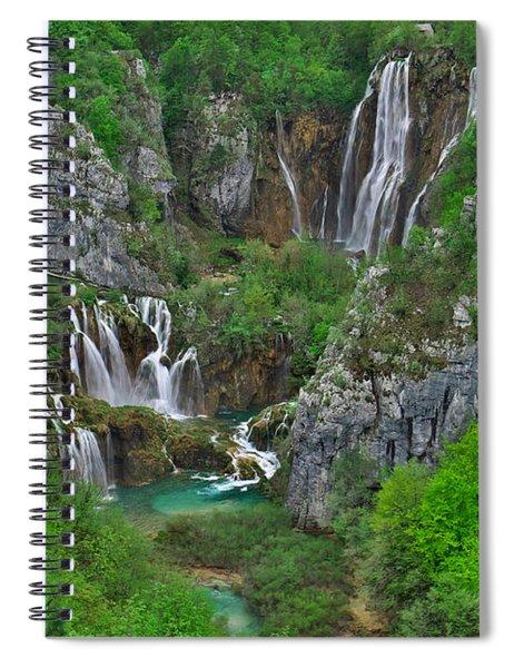 Plitvice Spiral Notebook