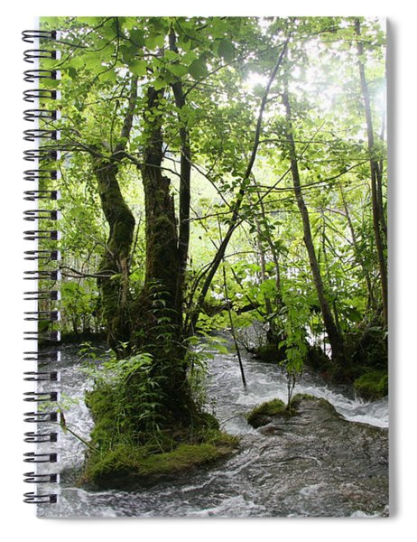 Plitvice Lakes Spiral Notebook