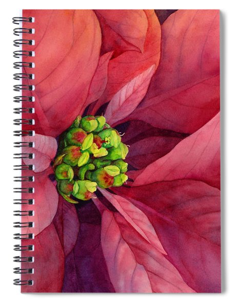 Plum Poinsettia Spiral Notebook