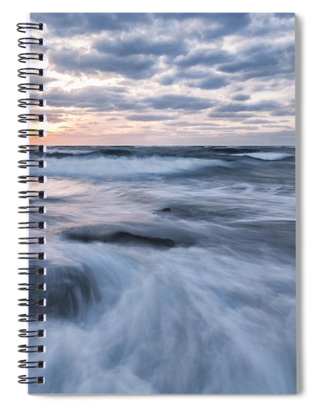 Plunge Into The Blue Spiral Notebook