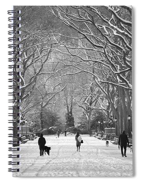 New York City - Poets Walk Winter Spiral Notebook