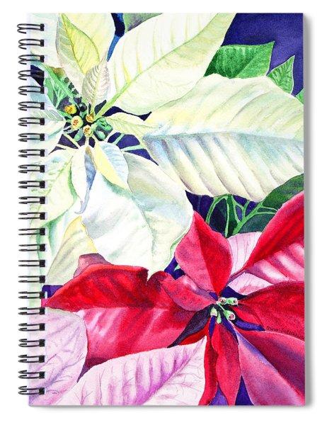 Poinsettia Christmas Collection Spiral Notebook