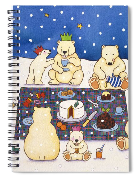 Polar Bear Picnic Spiral Notebook
