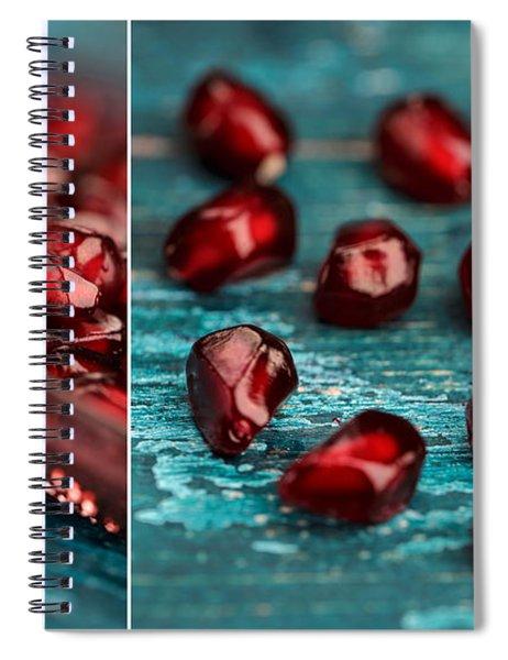 Pomegranate Collage Spiral Notebook