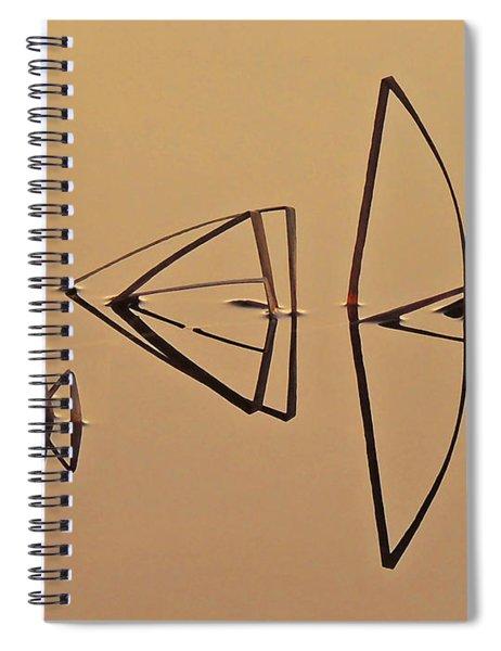 Pond Reeds Sunrise 1 Spiral Notebook