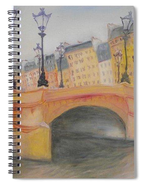 Pont Neuf Et Ile De La Cite, 2010 Oil On Canvas Spiral Notebook