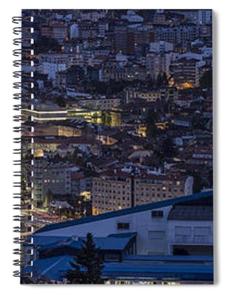 Pontevedra Panorama From A Caeira Spiral Notebook