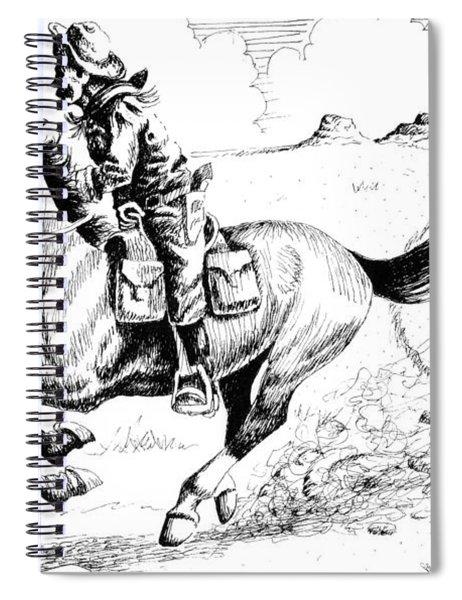 Pony Express Rider Spiral Notebook