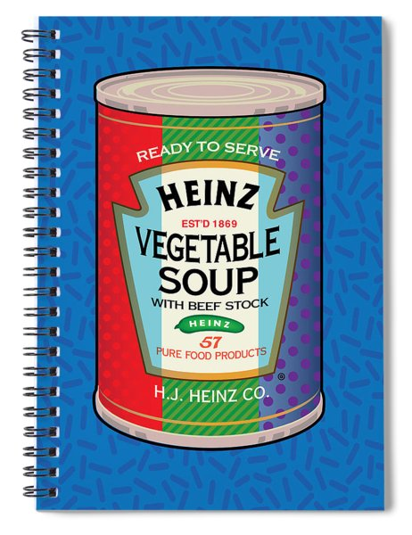Pop Vegetable Soup Spiral Notebook by Gary Grayson