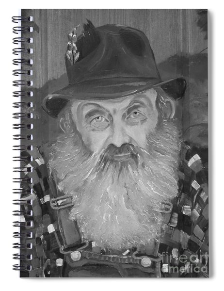 Spiral Notebook featuring the painting Popcorn Sutton - Jam - Moonshine by Jan Dappen