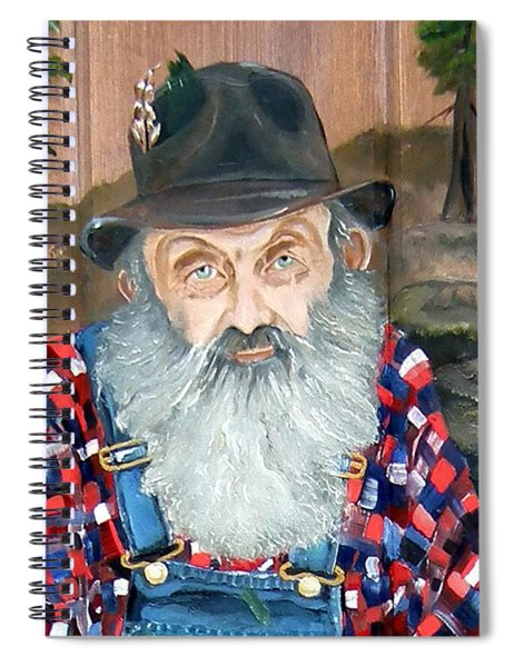 Spiral Notebook featuring the painting Popcorn Sutton - Moonshine Legend - Landscape View by Jan Dappen