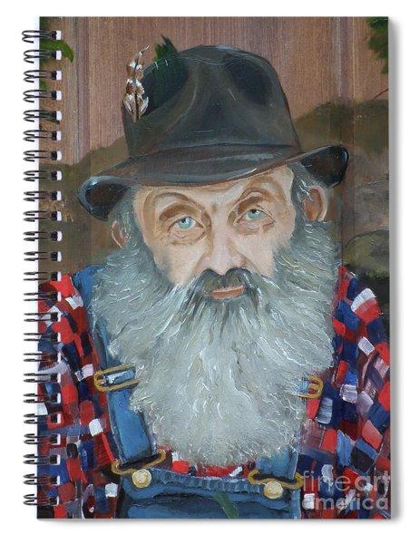 Popcorn Sutton - Moonshiner - Portrait Spiral Notebook