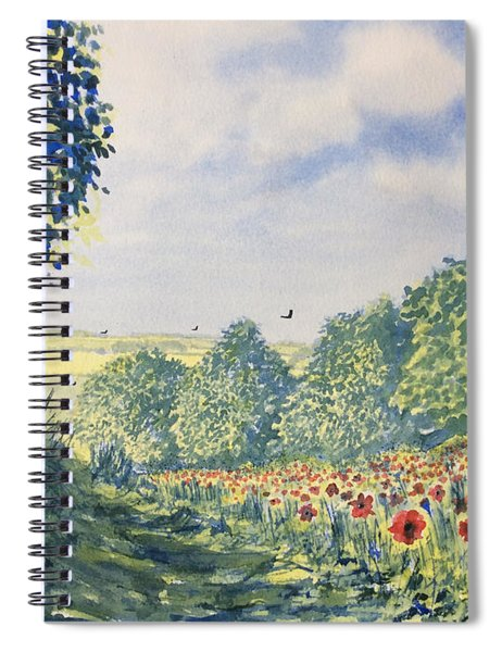 Poppies A'plenty Spiral Notebook