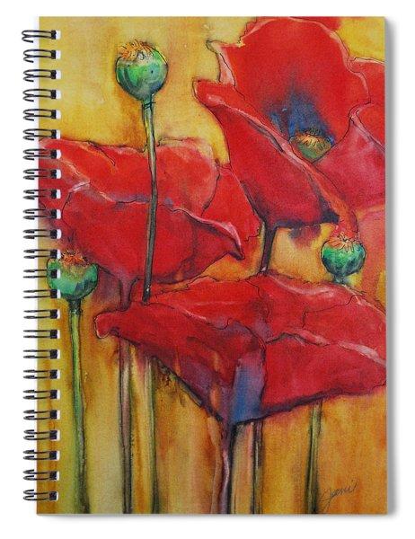Poppies IIi Spiral Notebook